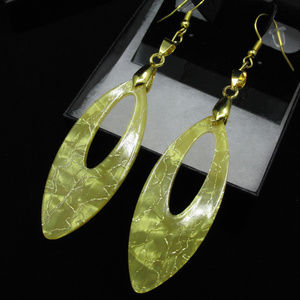 Gold Plated Abstract V Earrings